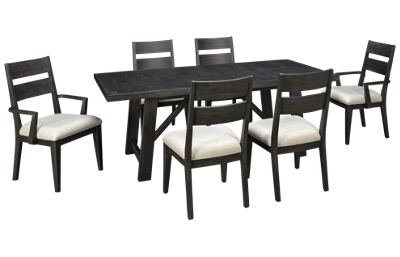 Klaussner Home Furnishings City Limits 7 Piece Dining Set with Leaf
