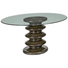 "Container Marketing Galaxy 60"" Round Glass Pedestal Table"