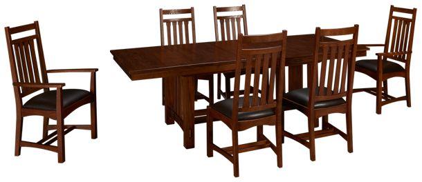Intercon Oak Park 7 Piece Dining Set