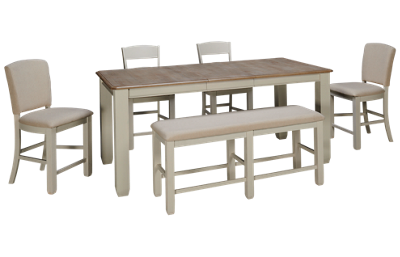 Jofran Dana Point Counter Height 6 Piece Dining Set with Leaf