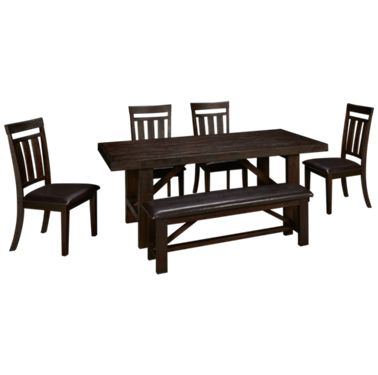Fabulous Jofran Kona Grove 6 Piece Dining Set Gmtry Best Dining Table And Chair Ideas Images Gmtryco