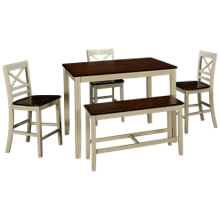 Jofran Asbury Park 5 Piece Counter Height Dining Set