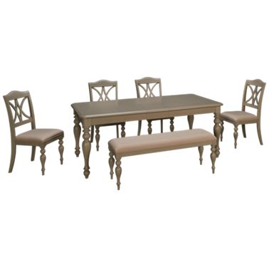 Wondrous Liberty Furniture Summer House 6 Piece Dining Set Caraccident5 Cool Chair Designs And Ideas Caraccident5Info