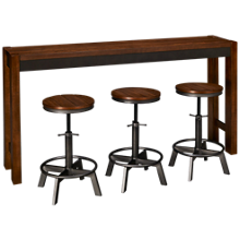 Ashley Torjin Long Counter Table and Stool Set