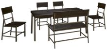 Ashley Raventown 6 Piece Dining Set
