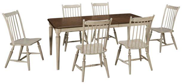 Liberty Furniture-Oak Hill-Liberty Furniture Oak Hill 7 Piece Dining ...