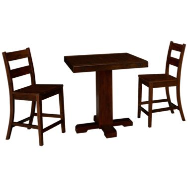 Incredible Sunny Designs Vineyard 3 Piece Counter Height Dining Set Ibusinesslaw Wood Chair Design Ideas Ibusinesslaworg