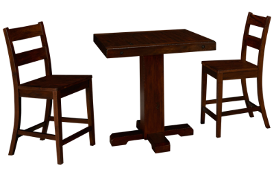 Sunny Designs Vineyard 3 Piece Counter Height Dining Set
