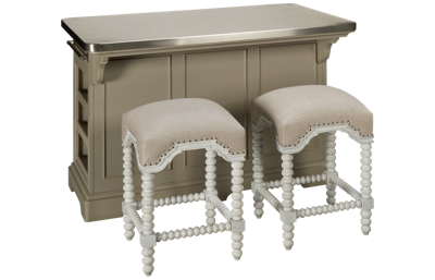 Universal Dogwood 3 Piece Kitchen Island Set