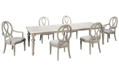 Universal Summer Hill Gray 7 Piece Dining Set with Leaf