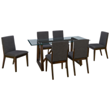 A America Palm Canyon 7 Piece Rectangular Dining Set