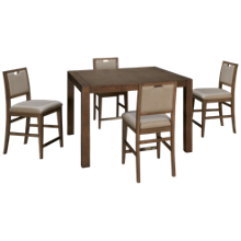 Klaussner Home Furnishings Melbourne 5 Piece Counter Height Dining Set
