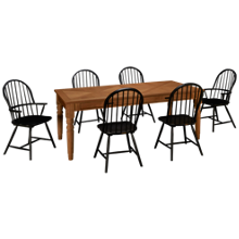 Magnolia Home Taper Turned 7 Piece Dining Set