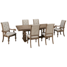 Klaussner Home Furnishings Cardoso 7 Piece Dining Set