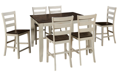 Intercon Kona 7 Piece Counter Height Dining Set with Leaf