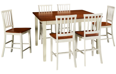 Intercon Arlington 7 Piece Counter Height Dining Set