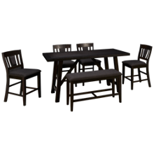Jofran American Rustics 6 Piece Counter Dining Set