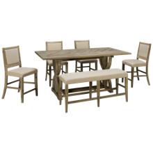 Jofran Fairview 6 Piece Counter Height Dining Set