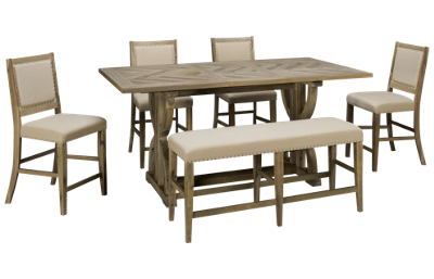 Jofran Fairview 6 Piece Counter Height Dining Set
