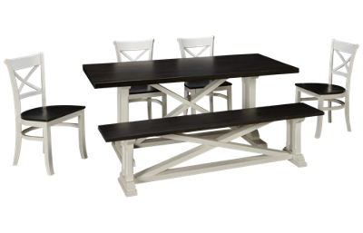 Whitewood Industries Alexa 6 Piece Dining Set