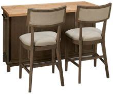Legacy Classic Rachael Ray's High Line Kitchen Island with 2 Counter Stools