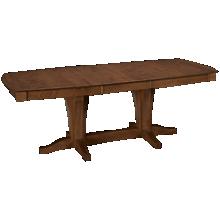 Canadel Pecan Boat Shaped Pedestal Table