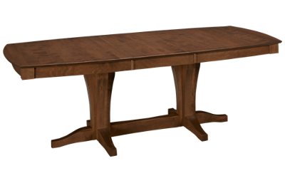 Canadel Pecan Boat Shaped Pedestal Table with Leaf