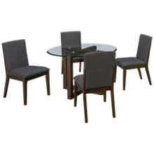 A America Palm Canyon 5 Piece Round Dining Set