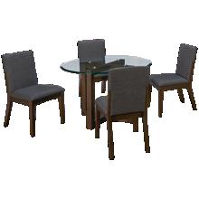 A America Palm Canyon 5 Piece Round Dining Set