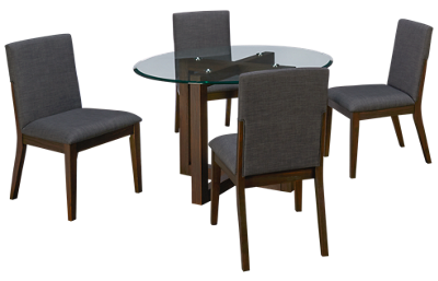 A America Palm Canyon 5 Piece Round Dining