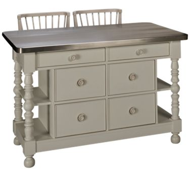 Universal Cottage Kitchen Island And 2 Counter Stools Product Image Unavailable