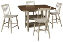 Liberty Furniture Oak Hill 5 Piece Counter Height Dining Set