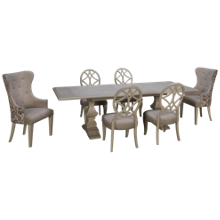 Klaussner Home Furnishings Jasper County 7 Piece Dining Set