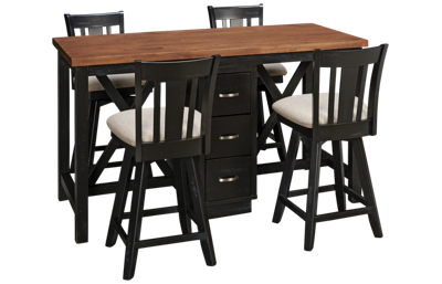 Whitewood Industries Sherwood Island Table 5 Piece Set