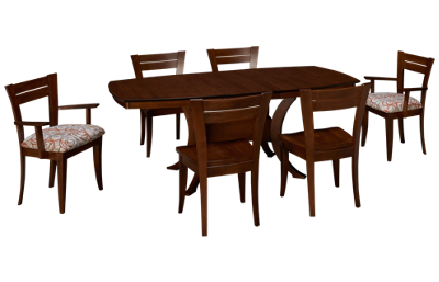 Saloom Boat Table 7 Piece Dining Set