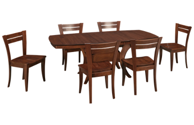 Saloom Boat Table 7 Piece Dining Set