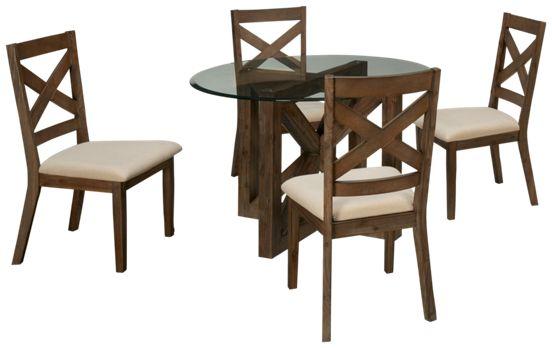 Jofran-Hampton-Jofran Hampton 5 Piece Dining Set - Jordan\'s Furniture