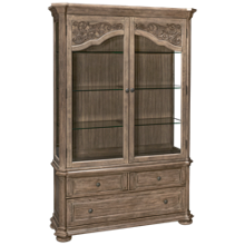 Klaussner Home Furnishings Cardoso Curio Top and Base