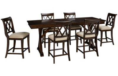 Legacy Classic Thatcher Pub Table and 6 Pub Chairs