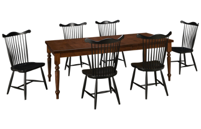 Canadel Cognac 7 Piece Dining Set with Leaf