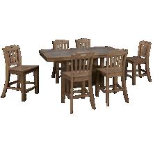 Jofran Prescott Park 7 Piece Counter Height Dining Set
