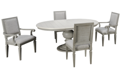Universal Summer Hill Gray 5 Piece Dining Set with Leaf