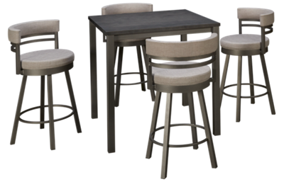 Amisco Carbon 5 Piece Dining Set
