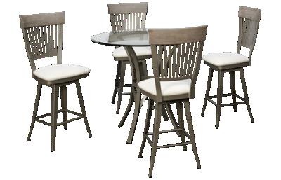 Amisco Kai 5 Piece Counter Height Dining Set