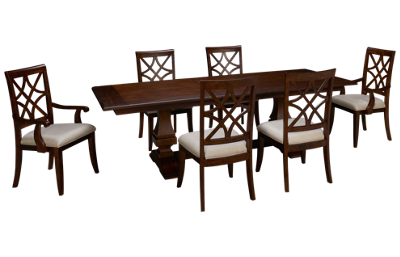 Klaussner Home Furnishings Trisha Yearwood Home 7 Piece Dining Set with Leaf