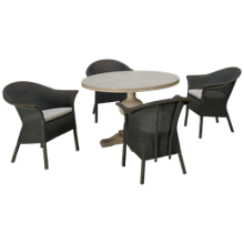 Universal Coastal Living 5 Piece Dining Set