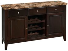 Crown Mark Bruce Sideboard with Marble Top