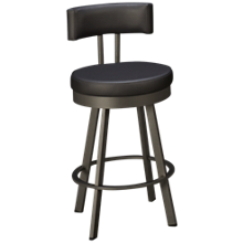 Amisco Barry Swivel Counter Stool