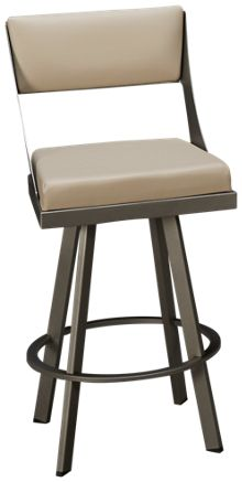 Amisco Fame Swivel Counter Stool