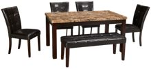 Crown Mark Marble 6 Piece Dining Set